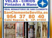 Sevilla, velas y cirios artesanales, pintadas a