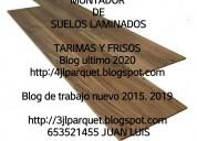 Montadores de suelos maderas