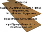 Montador de suelos de maderas